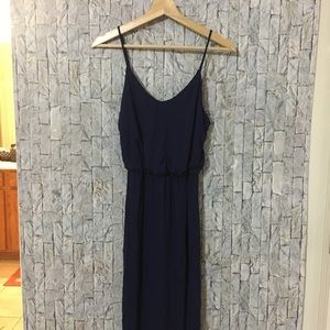 Lulu's Dresses - Lulu's WATCH THE SUNSET NAVY MAXI DRESS Small